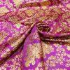 Tissu jacquard lurex bougainville or 2
