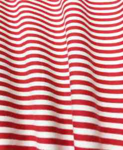 red white striped cotton jersey fabric