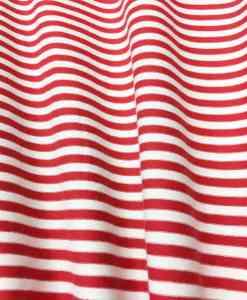 rood wit gestreepte katoenen jersey