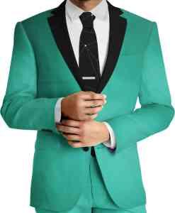 Stof koninklijke groene wol door Woolmark