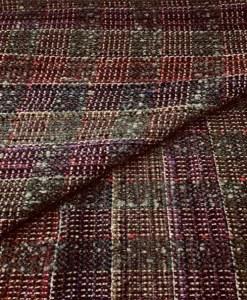 Tissu tweed laine polyester carreaux