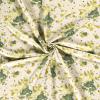 Tissu lin viscose tache aquarelle vert