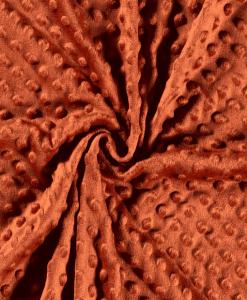 Tissu minky brique