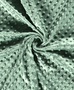 Tissu minky menthe