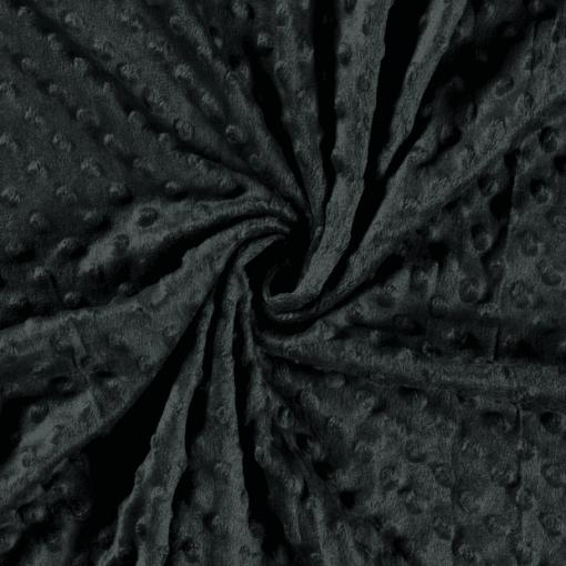 Tissu minky vert foncé