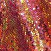 Tissu paillette rose et or caméléon