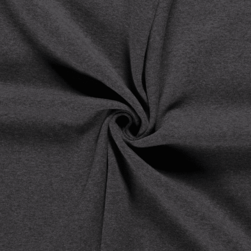 Tissu sweat molleton gris foncé 1