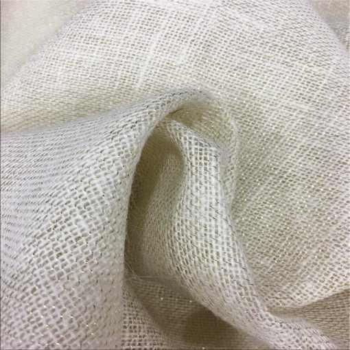 Tissu toile de jute naturel avec lurex