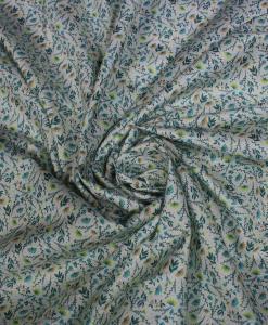 Tissu toucher de soie motif florales 6