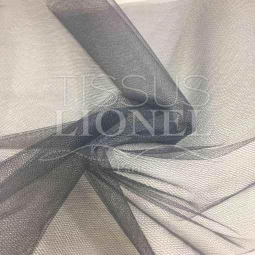 Tissu tulle souple gris foncé