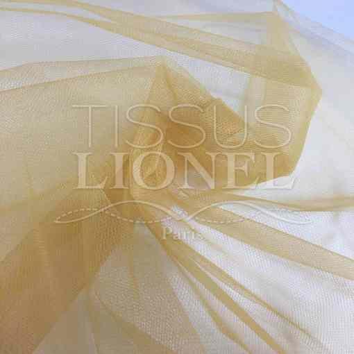 Tissu tulle souple or