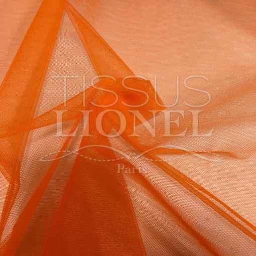 Tissu tulle souple orange 2
