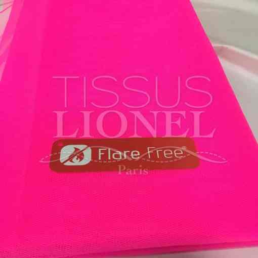 Tissu tulle souple rose fluo foncé