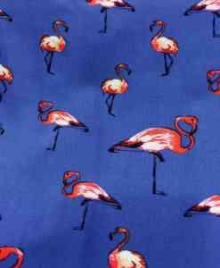 Ткань парусной вискоза синий фламинго