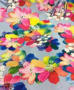 Вискоза ткань светло-голубой лилии вуаль