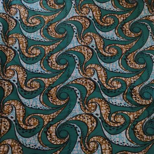 Tissu wax paisley abstract