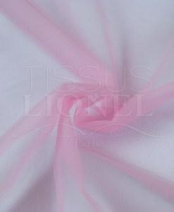 Мягкий бледно-розовый тюль