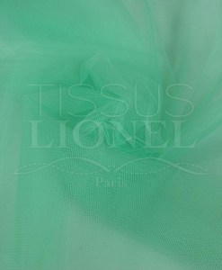 Soft pale green tulle