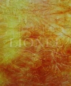 velour dégradé jaune et orange