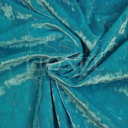 elour froissé changeant turquoise et blanc