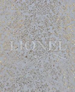 velour pailleté fleurs blanc pailleté or