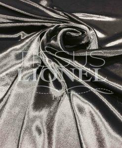 Velours de soie noir brillant