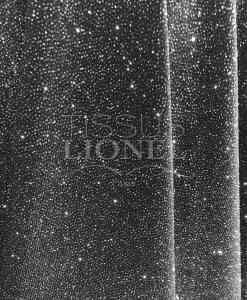 Velvet schwarz Pailletten glitzerndes Silber