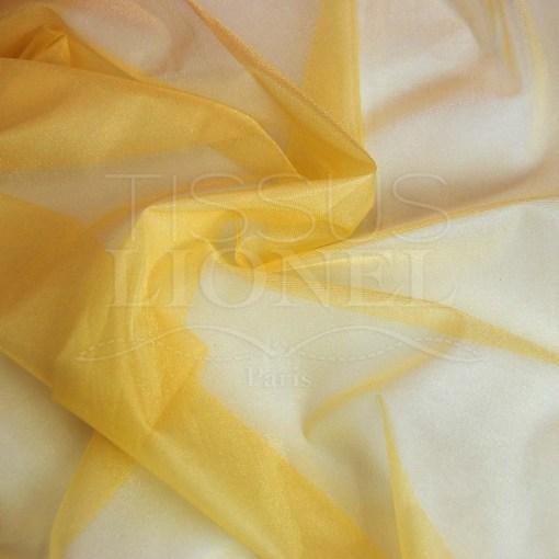 voile cristal jaune banane