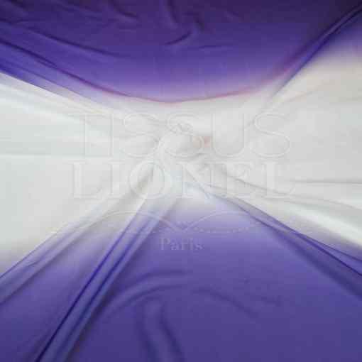 voile dégradé violet blanc violet
