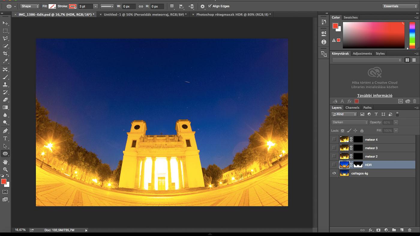 Eredeti csillagos kép HDR nélkül