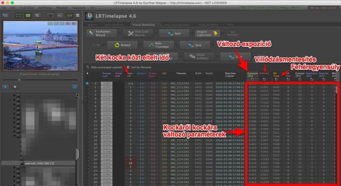 LRTimelapse használata képernyőkép