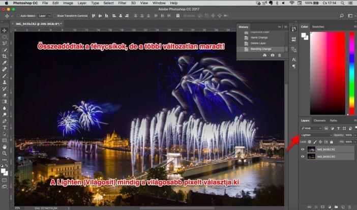 Photoshop lighten keverési mód