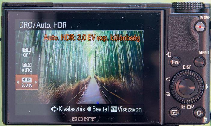 Sony RX100 HDR mód beállítás