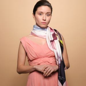 TitaHELLAS silk luxurious Women floral scarf