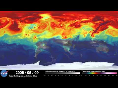 NASA Carbon Dioxine Simulation