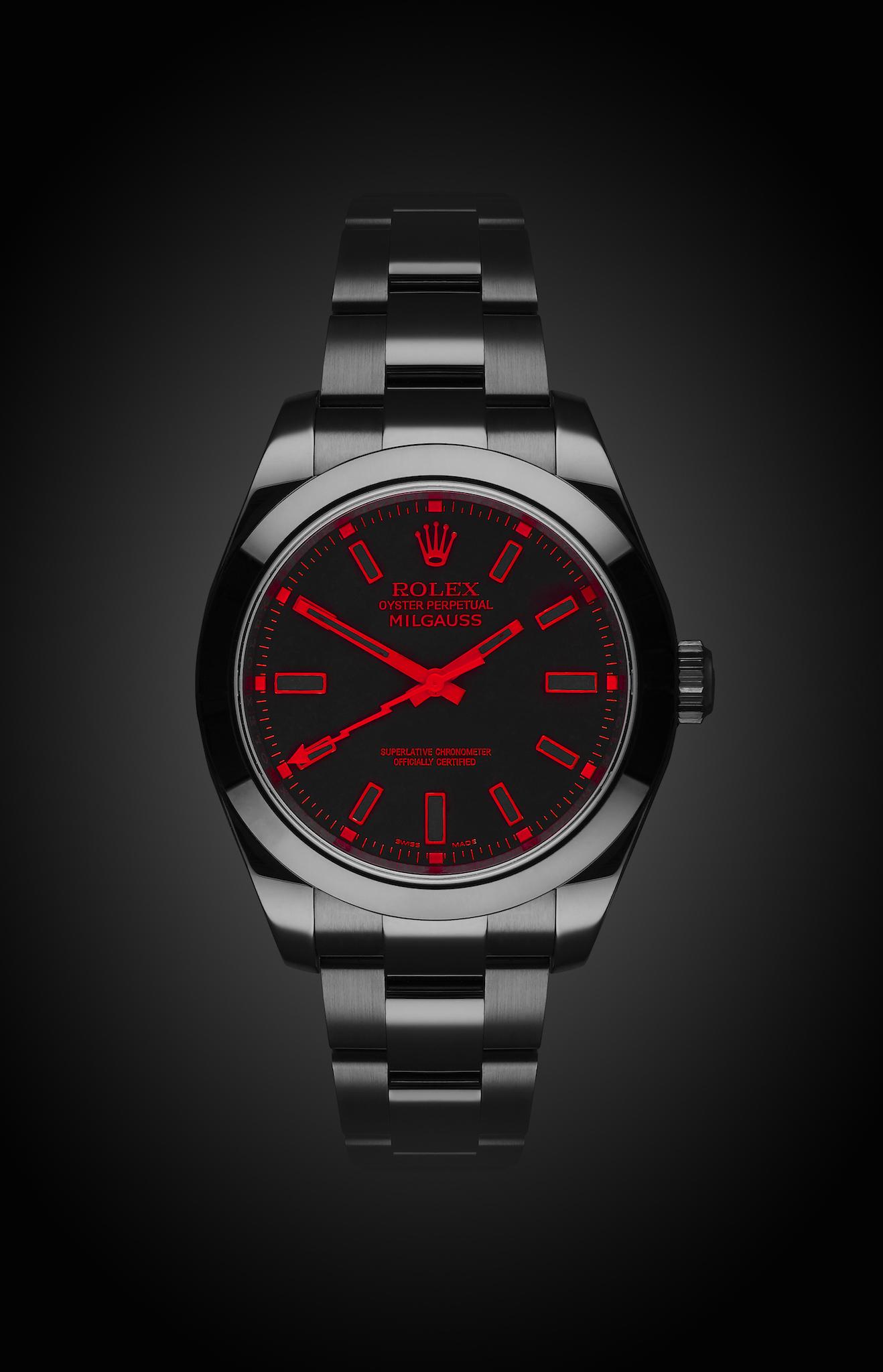 Rolex Milgauss Red Knight Titan Black