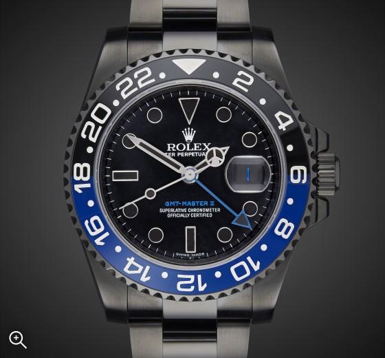 Rolex GMT Master II Batman Titan Black