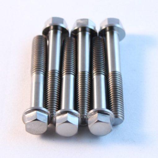m6 x 40mm TITANIUM hex flange bolt