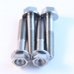 M8 x 40mm TITANIUM hex flange bolt