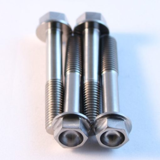M8 x 50mm titanium hex flange bolt