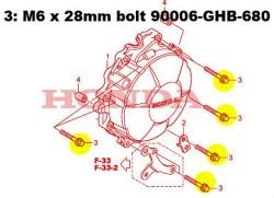 90006-GHB-680 CBR600RR TITANIUM bolt kit