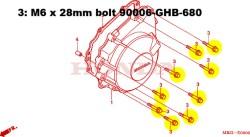 CBR600 9 bolt set