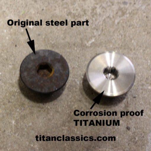 Titanium generator cap
