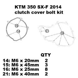 350 SX-F TITANIUM Clutch cover kit