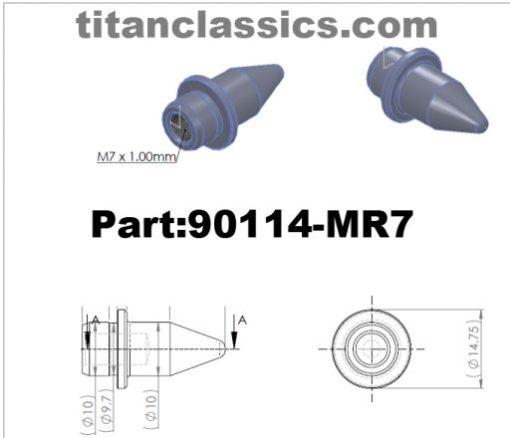 90114-MR7 titanium bolts