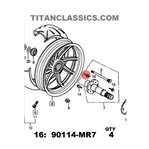 rear wheel vfr400