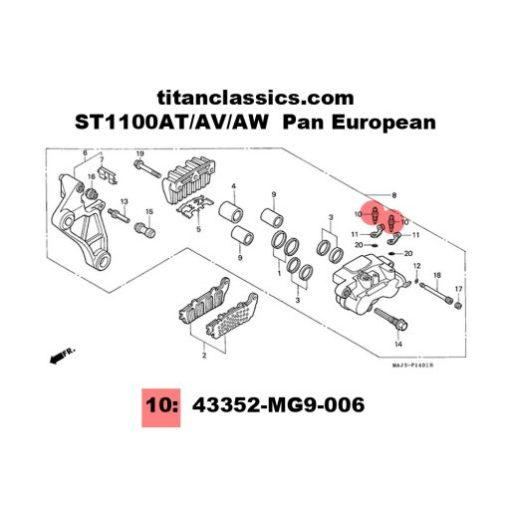 st1100 rear caliper TITANIUM bleed bolts