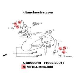 cbr900 TITANIUM fender bolts