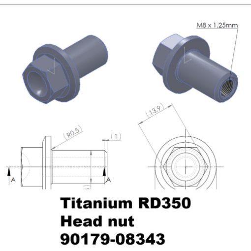 RD350 TITANIUM head nut: 90179-08343