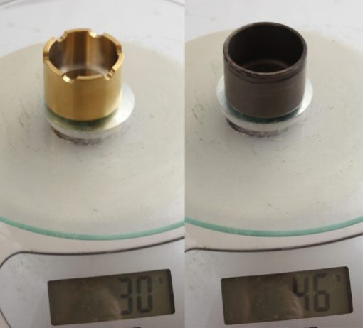 32mm Ti piston compare